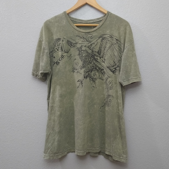 Levi's Other - Levi green Acid Wash Short Sleeve Graphic Shirt